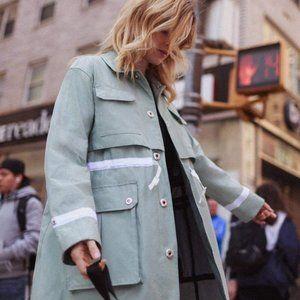 HUNTER Refined Garden Jacket Rain Coat Sea Spray